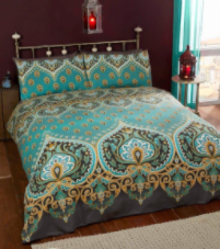 """Asha "",Emerald, King Duvet Set,easycare ""Made with Spirit"" by Rapport"
