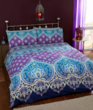"""Asha"",Sapphire, King Duvet Set, easycare ""Made with Spirit"" by Rapport"