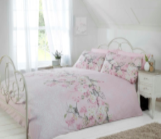 """Eloise"",Pink, King Duvet Set, ""Made with Love"" by Rapport"