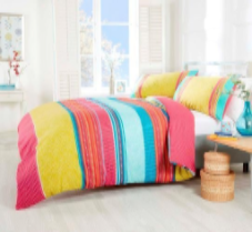 """Havana"",Multi coloured, Double Duvet ,Reversible, ""Made with Spirit"" by Rapport"