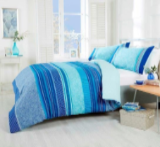 """Havana"",Teal, King Duvet Set,Reversible, ""Made with Spirit"" by Rapport"