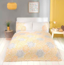 """Scandi"" Sunflower Yellow, Double Duvet Set ""Made with Love"" by Rapport"