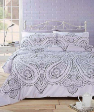 """Soha"" Paisley Mono print, King Duvet Set ""Made With Spirit"" by Rapport"