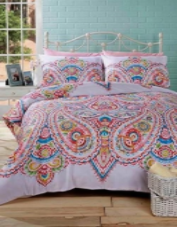 """Soha"" Paisley Multi print, Double Duvet Set ""Made With Spirit"" by Rapport"