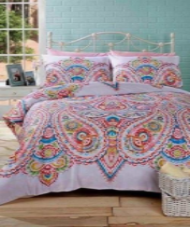 """Soha"" Paisley Multi print, King Duvet Set ""Made With Spirit"" by Rapport"