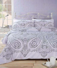 """Soha"" Paisley print, Mono Double Duvet Set ""Made With Spirit"" by Rapport"