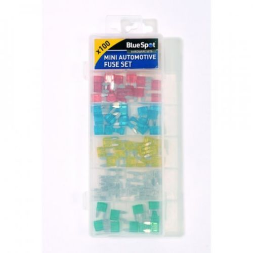 Blue Spot 100 Piece Assorted Mini Automotive Fuse Set