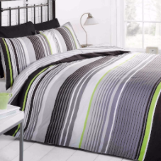 Cambridge Stripe mono, Double Duvet, Signature Home By Rapport