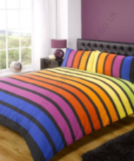 Contemporary Art Soho Multi Coloured Stripe Single Duvet Set by Rapport