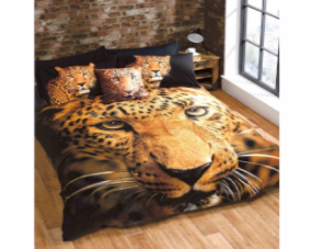 Leopard Double Duvet Cover Set Photographic Print