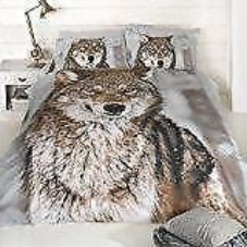 "Wolf Print Panel Duvet Set ""Signature Home"" by Urban Unique"